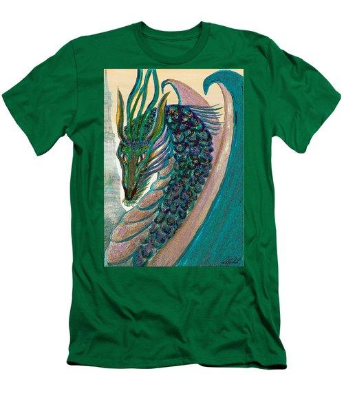 Healing Dragon Men's T-Shirt (Slim Fit) by Michele Avanti