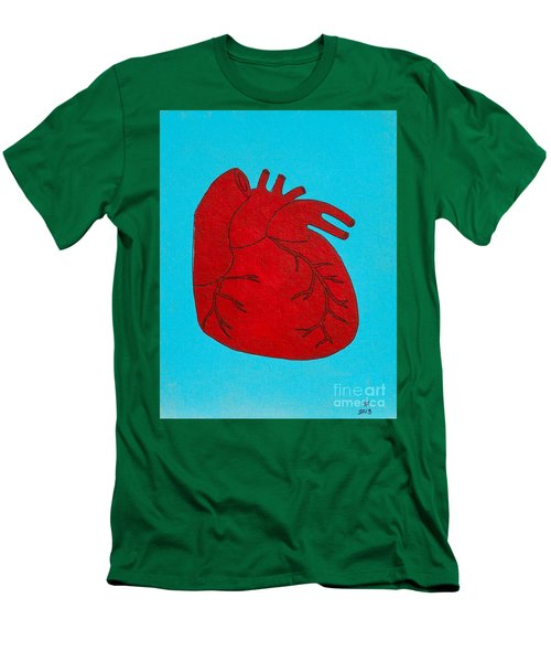 Heart Red Men's T-Shirt (Athletic Fit)