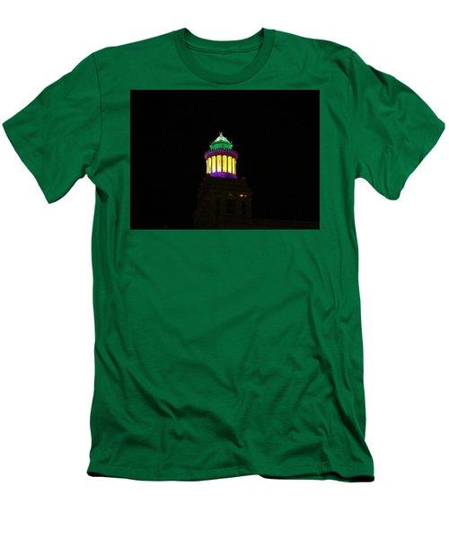 Hibernia Tower - Mardi Gras Men's T-Shirt (Athletic Fit)