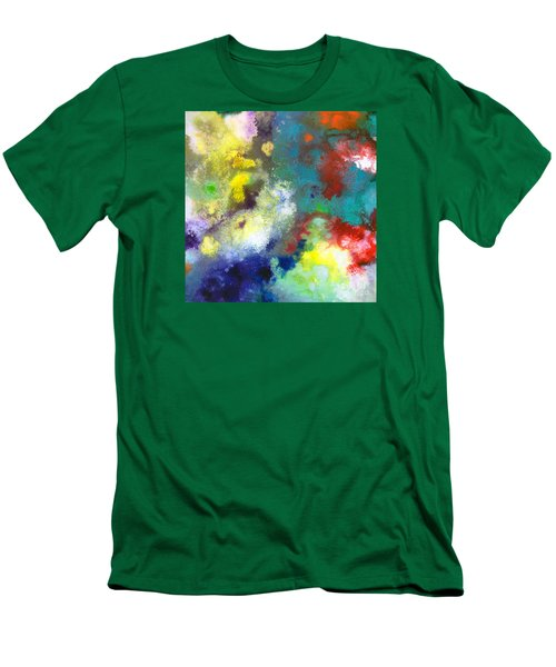 Holding The High Watch Canvas Two Men's T-Shirt (Slim Fit) by Sally Trace