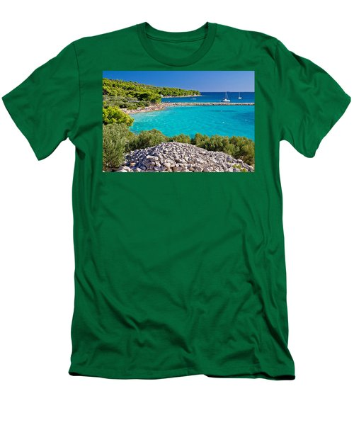 Island Murter Turquoise Lagoon Beach Men's T-Shirt (Athletic Fit)