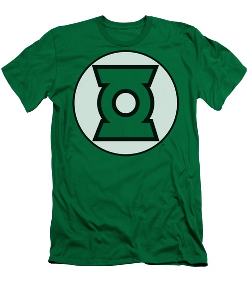 Jla - Green Lantern Logo Men's T-Shirt (Athletic Fit)