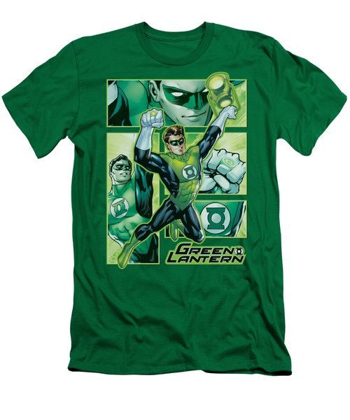 Jla - Green Lantern Panels Men's T-Shirt (Athletic Fit)