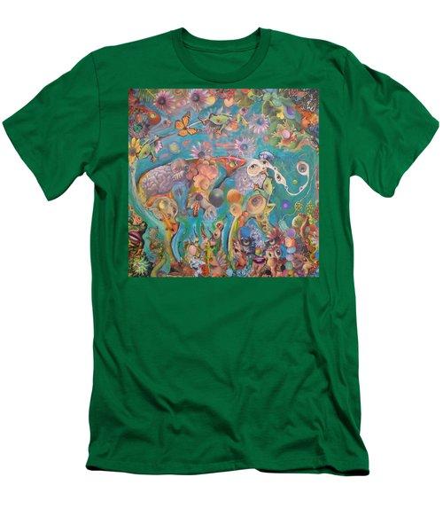 Jungledelphia Men's T-Shirt (Slim Fit) by Douglas Fromm