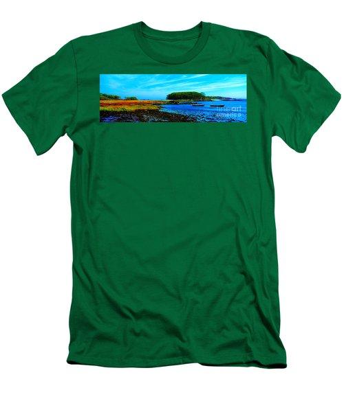 Men's T-Shirt (Slim Fit) featuring the photograph Kennepunkport Vaughn Island  by Tom Jelen