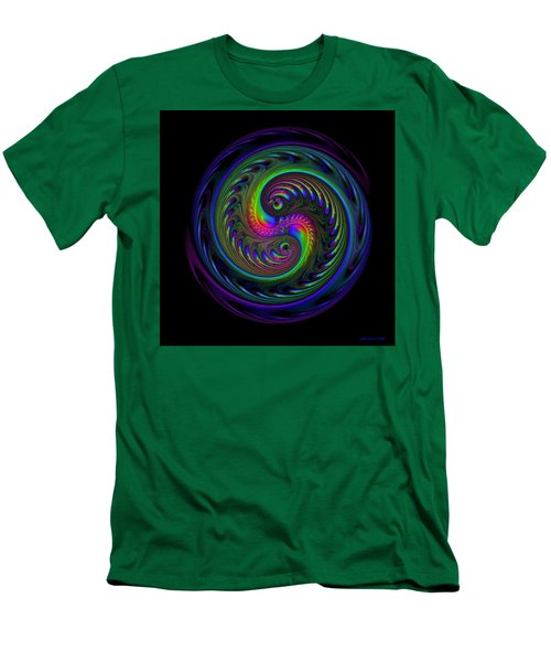 Koi Yin Yang Men's T-Shirt (Slim Fit) by Judi Suni Hall