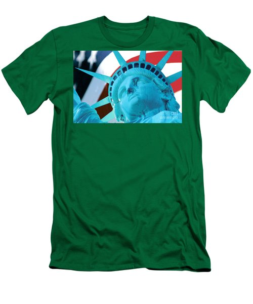Men's T-Shirt (Slim Fit) featuring the photograph Lady Liberty  by Jerry Fornarotto