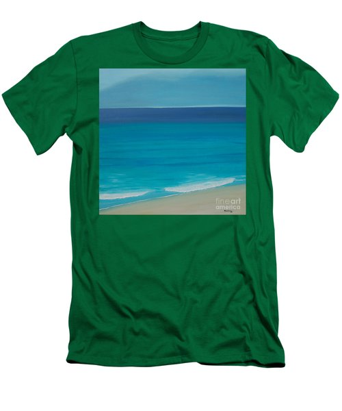 Men's T-Shirt (Slim Fit) featuring the painting Madagascar by Mini Arora