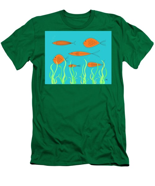 Mid Century Fish 2 Men's T-Shirt (Slim Fit)