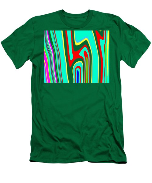 Men's T-Shirt (Slim Fit) featuring the painting Mod Stripes  C2014 by Paul Ashby