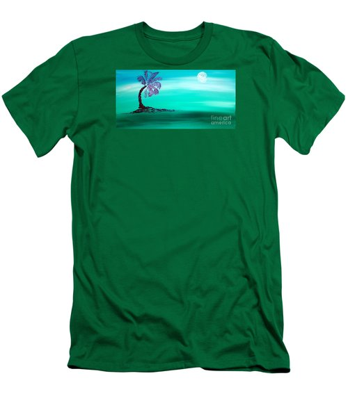 Moonlit Palm Men's T-Shirt (Athletic Fit)