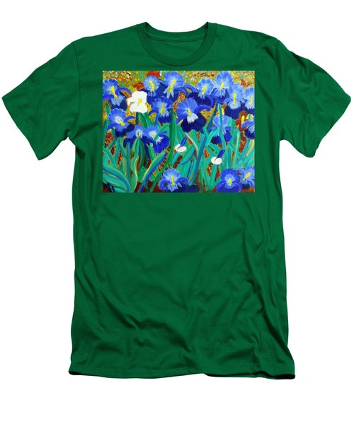 My Iris - Inspired  By Vangogh Men's T-Shirt (Athletic Fit)