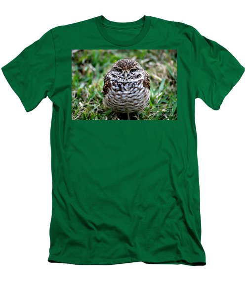 Owl. Best Photo Men's T-Shirt (Slim Fit) by Oksana Semenchenko