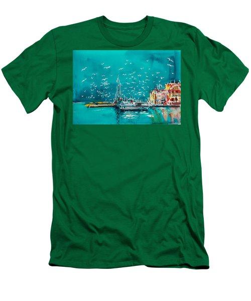 Port Men's T-Shirt (Slim Fit) by Kovacs Anna Brigitta