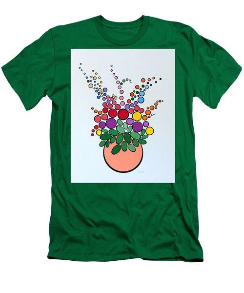 Potted Blooms - Orange Men's T-Shirt (Athletic Fit)