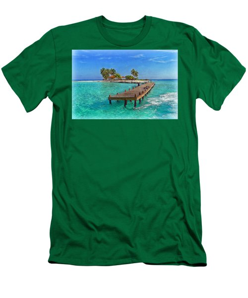 Robinson Island Men's T-Shirt (Slim Fit) by Hanny Heim