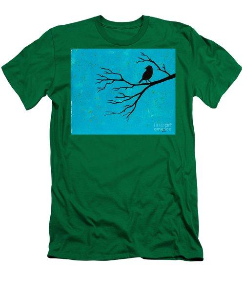 Silhouette Blue Men's T-Shirt (Slim Fit)