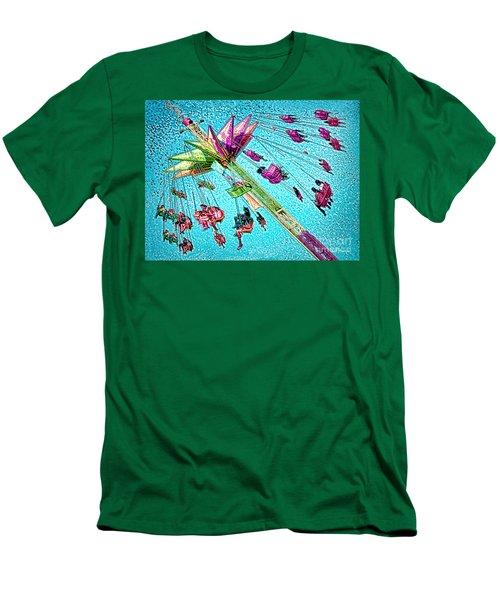 Men's T-Shirt (Slim Fit) featuring the digital art Sky Flyer by Jennie Breeze