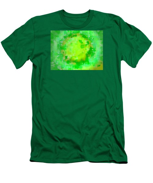 Original Abstract Art Painting Sunlight In The Trees  Men's T-Shirt (Slim Fit) by RjFxx at beautifullart com
