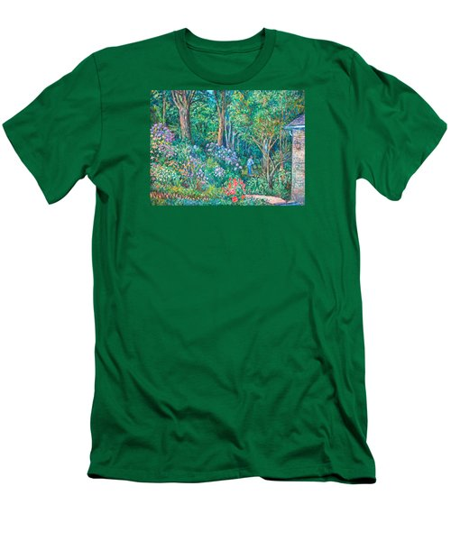 Men's T-Shirt (Slim Fit) featuring the painting Taking A Break by Kendall Kessler