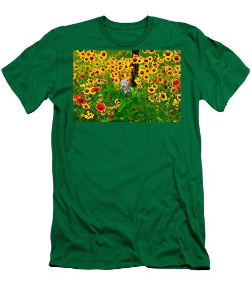 Texas Spring Delight Men's T-Shirt (Slim Fit) by Lynn Bauer