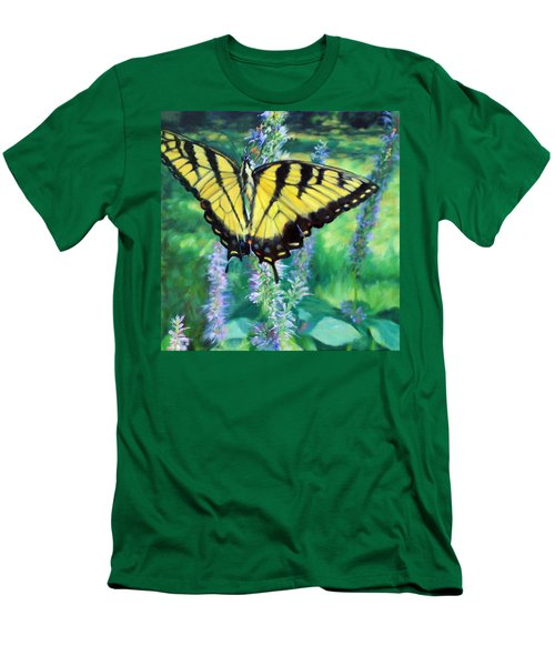 Tiger Swallowtail- Enjoying The Sweetness Men's T-Shirt (Athletic Fit)