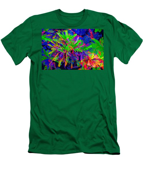 Men's T-Shirt (Slim Fit) featuring the photograph Tropicals Gone Wild by David Lawson