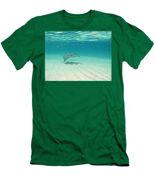 Underwater Flight Men's T-Shirt (Athletic Fit)