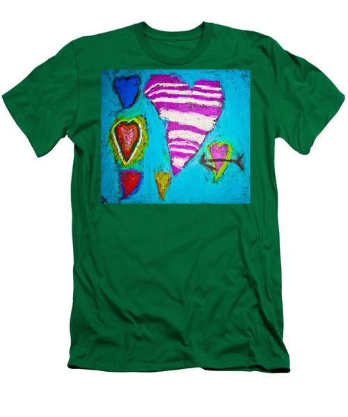 Vibrant Love Men's T-Shirt (Slim Fit) by Sara Frank