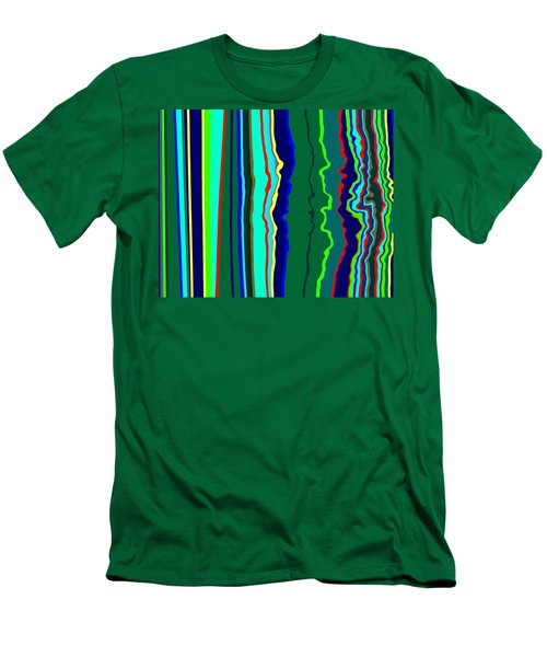 Vibrato Stripes  C2014  Men's T-Shirt (Slim Fit) by Paul Ashby