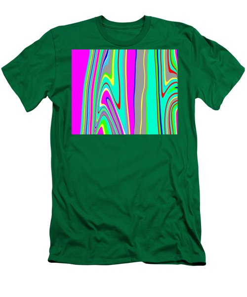 Men's T-Shirt (Slim Fit) featuring the painting Yipes Stripes II  C2014 by Paul Ashby