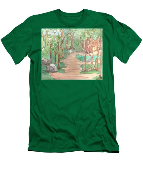 Zen House Men's T-Shirt (Athletic Fit)
