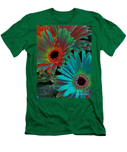 Daisies From Another Dimension Men's T-Shirt (Slim Fit) by Rory Sagner