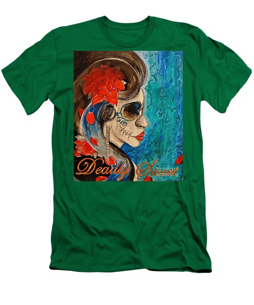 Men's T-Shirt (Slim Fit) featuring the painting Deadly Sweet by Sandro Ramani