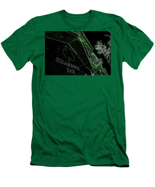 Men's T-Shirt (Slim Fit) featuring the photograph Green Night by Zafer Gurel