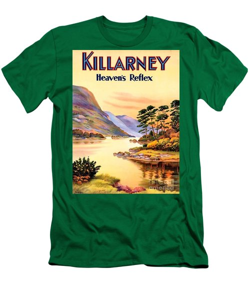 Men's T-Shirt (Slim Fit) featuring the painting Killarney by Pg Reproductions