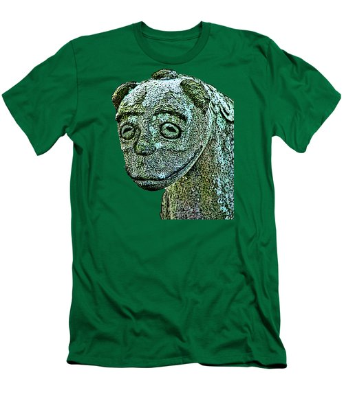 Men's T-Shirt (Athletic Fit) featuring the mixed media Komainu03 by Yoshimitsu Takuki