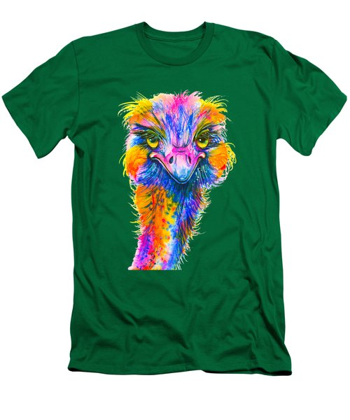 Rainbow Ostrich  Men's T-Shirt (Athletic Fit)