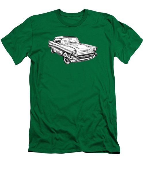 1957 Chevy Bel Air Illustration Men's T-Shirt (Slim Fit) by Keith Webber Jr