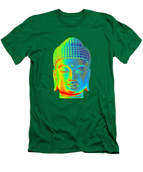 colorful Buddha - Korean Men's T-Shirt (Slim Fit) by Terrell Kaucher