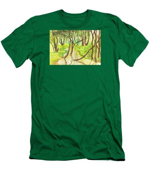 Summer Landscape, Painting Men's T-Shirt (Slim Fit) by Irina Afonskaya