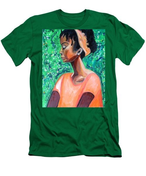 Men's T-Shirt (Athletic Fit) featuring the painting A New Queen Of Sheba by Esther Newman-Cohen