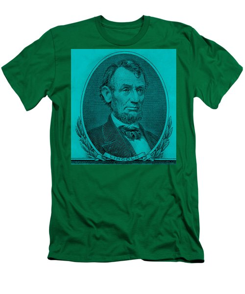 Men's T-Shirt (Athletic Fit) featuring the photograph Abe On The 5 Aqua Blue by Rob Hans