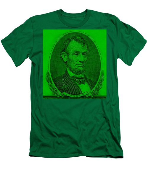 Men's T-Shirt (Athletic Fit) featuring the photograph Abe On The 5 Green by Rob Hans
