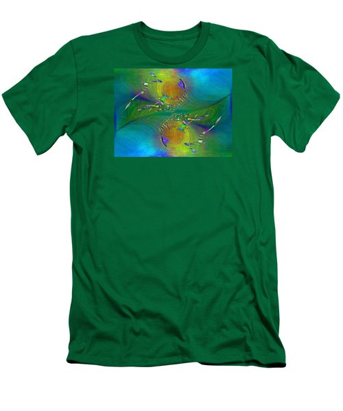 Men's T-Shirt (Slim Fit) featuring the digital art Abstract Cubed 359 by Tim Allen