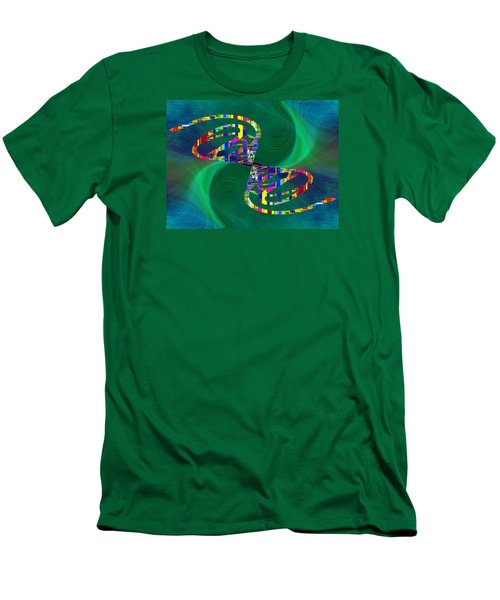 Men's T-Shirt (Slim Fit) featuring the digital art Abstract Cubed 374 by Tim Allen