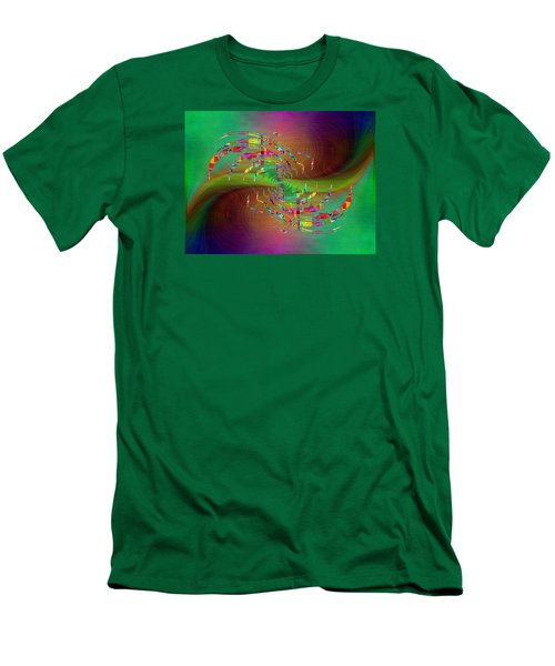 Men's T-Shirt (Slim Fit) featuring the digital art Abstract Cubed 379 by Tim Allen