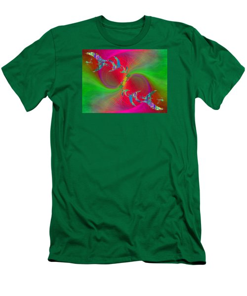 Men's T-Shirt (Slim Fit) featuring the digital art Abstract Cubed 383 by Tim Allen