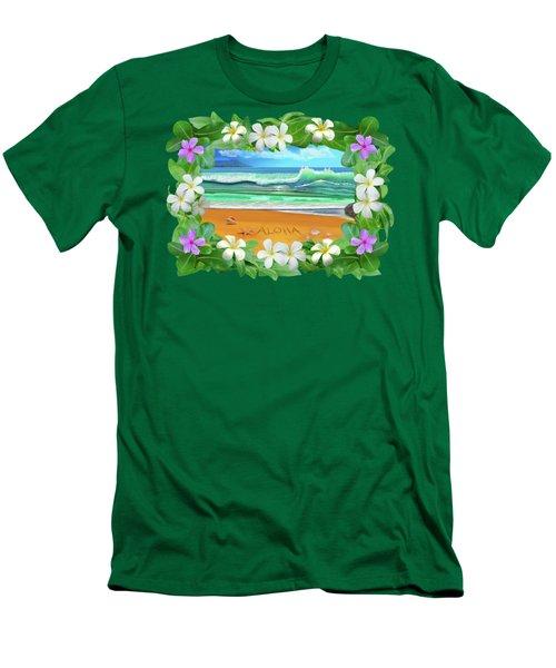 Aloha Hawaii Men's T-Shirt (Slim Fit) by Glenn Holbrook