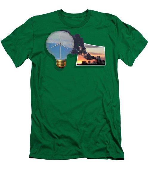 Alternative Energy Men's T-Shirt (Slim Fit) by Shane Bechler